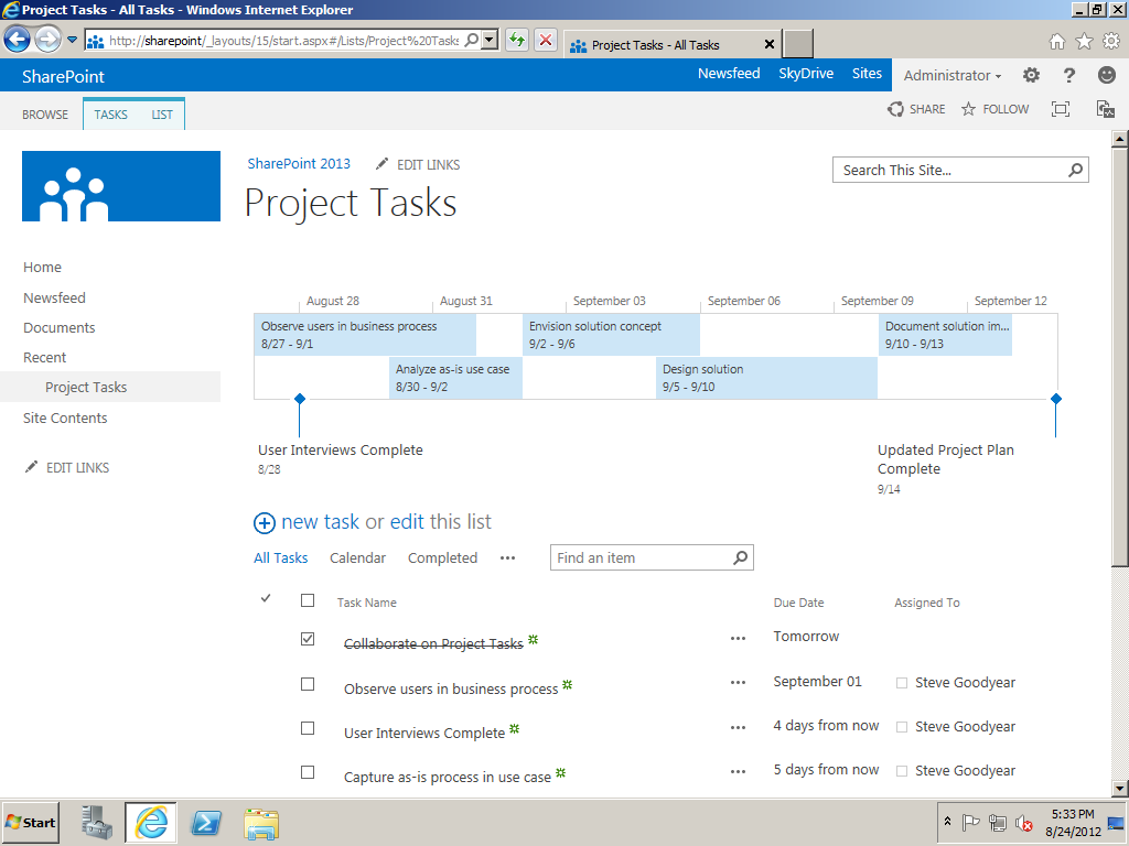 sharepoint task list template sharepoint 2013 deployment project plan template steve