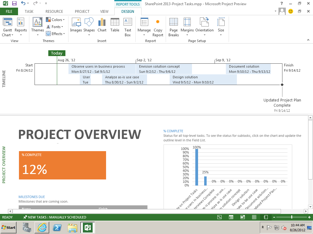 Using sharepoint 2013 and project 2013 for collaborative for Sharepoint project tracking template