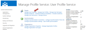 The User Profile Service settings page